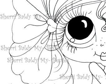 INSTANT DOWNLOAD Digital Digi Stamps Big Eye Big Head Dolls Digi  Img988 2 By Sherri Baldy