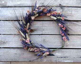 Elegant Dried Bridal Flower Crown - Wedding Crown - For Brides, For Bridesmaids, For Flower Girls