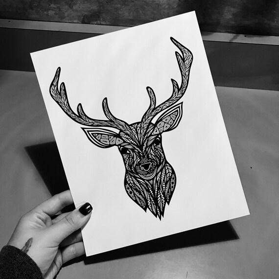 Zentangle - Deer