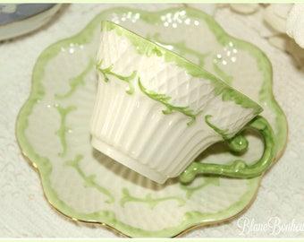 Belleek, Ireland: Tea cup & saucer