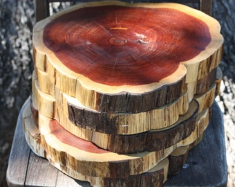 """Centerpieces for wedding, 12"""" Rustic Wood Slices, 1.5"""" thick, Set of 5, sanded and finished, rustic wedding decor, centerpiece, charger"""