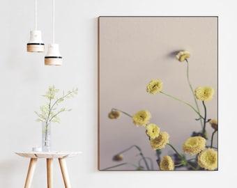 Simple White Flowers, modern minimal still life art print, Scandinavian style, flower photography, floral art, flower print, white decor