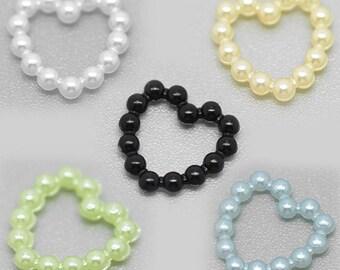 SET of 10 acrylic heart embellishments