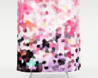 Abstract Shower Curtain, Bathroom Decor, Bath Curtain, , Girly Shower Curtain
