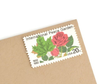 25 Peace Garden Stamps - 20c - Unused Vintage Postage - 1982 - Quantity of 25
