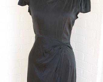 Vintage V-Neck Dress by Neiman Marcus