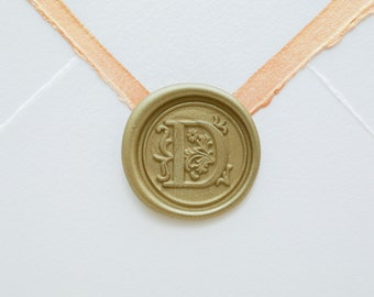 D Letter Wax Seal | Initial Wax Seal Stamp