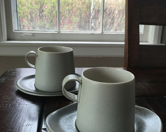 Porcelain Cup and Saucer, Tea cup and saucer, Coffee Cups, Porcelain Cups, Handmade Cups, Mugs