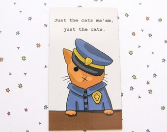Cute Cat Magnet Police Officer Cat Magnet Cute Magnet Cat Magnet Fridge Magnet Cubicle Decor Kawaii Magnet Cop Kitty Magnet Refrigerator