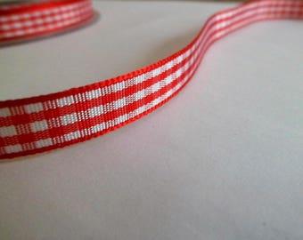 checkered ribbon Vichy