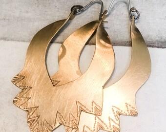 Aine Hoops // Brass & Sterling Silver