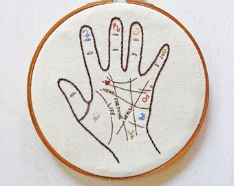 palmistry - pdf embroidery pattern