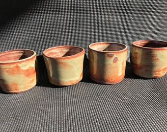 Set of stoneware mugs