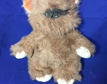 1983 Vintage Star Wars Ewok Stuffed Animal, Wicket the Ewok Plush Stuffed Animal Toy, Kenner