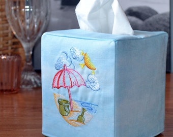Day at the Beach Tissue Box Cover