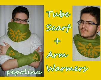Triforce Legend of Zelda Tube Scarf and Arm Warmers Pack