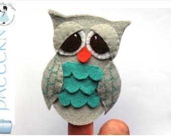 Owl Finger Puppet PATTERN // DIY Animal Finger Puppet // Finger Toy Sewing Pattern