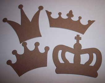 Crowns Chipboard Die Cut Set of 8