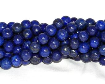 A Grade Lapis Lazuli Beads - 10mm