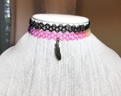 Rainbow Tattoo Choker, Fe...