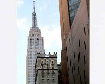New York canvas, Empire State Building, New York City canvas large wall art, New York decor, nyc canvas skyline New York architecture art