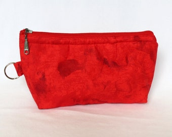 Zip Pouch - Red - medium
