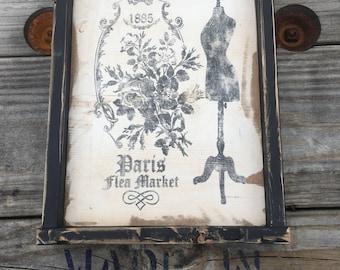 Paris Flea Market Vintage Sign