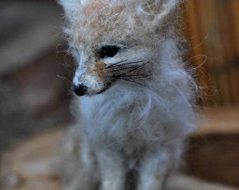 Needle Felted  Animal. Fennec Fox