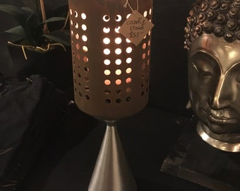 Up Cycled Industrial Candle Holder Lamp,Rusty