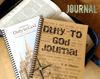 Duty To God Journal - Printable Instant Download