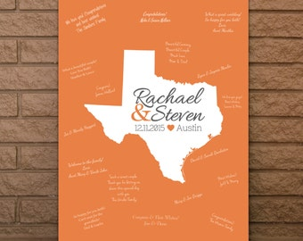 Wedding Guestbook, State Guestbook, Texas Guest Book, Wedding Guest Book, Texas Wedding Sign, Texas Wedding, Guest book