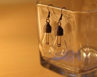 Antique Style Light Bulb Earrings