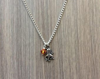 Hank the Septapod Charm Necklace