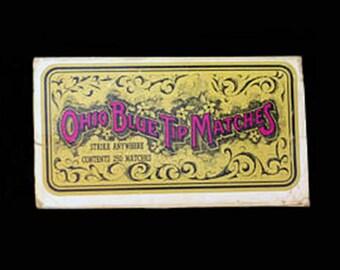 1960's Ohio Blue Tip Match Box