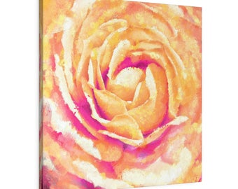 Square Leather Gallery Wraps - Modern Abstract Wall Art