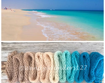 Gradient Dyed Yarn, Hand dyed yarn, Gradient yarn, Wool Yarn, Worsted Weight, If it's the Beaches