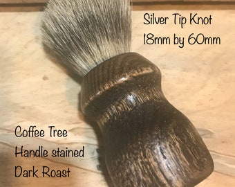 Silver tip brush, Mens shave brush, Womens shave brush, wet shave brush, soap brush