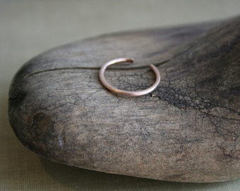 14K Rose Gold Fill Toe Ring Matte Finish Round Wire
