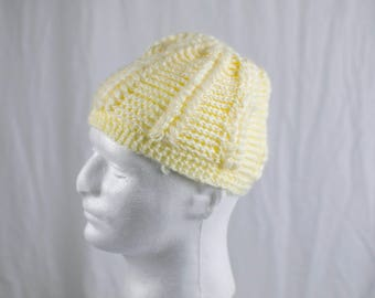 Light yellow Knit Hat