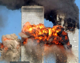 Terrorists Hijack United 175 And Crash Into The World Trade Center On September 11, 2001 - 5X7, 8X10 or 11X14 Photo (EP-958)