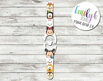 Best Friends Pals Disney Magic Band 1.0 or 2.0 Decal | Custom Waterproof MagicBand Skin  | RTS Ready To Ship | Glitter MagicBand Decals