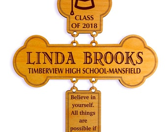 Graduation Gift - Gifts for College Graduation Personalized - Graduation Gift from Aunt - Uncle -Mom and Dad-Graduation Cross for Her or Him