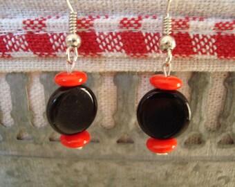 Original red and black Stud Earrings
