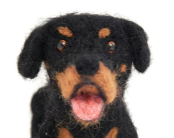 Personalised Dog Sculpture, Rottweiler art, Custom crossbreed Ornament. Small SIzed Sculpture of your pet Made in Scotland By BenMcFuzzylugs