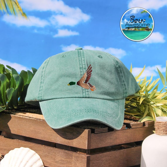 Cute Mallard Duck Embroidered Baseball Hat, Mallard Dad Hat, Cute Gift, Choose Your Own Color Hat, Animal Lover Hat, Low Profile Hat,Dad Hat by Etsy
