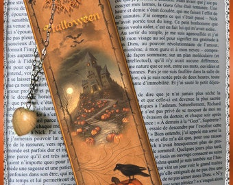 "Laminated bookmarks ""Haunting"" Halloween, cheap gift idea"
