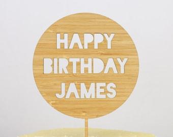 Cutout Circle Birthday Cake Topper