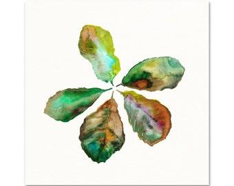 Fiddle Leaf Fig Watercolor Art Print. Botanical Painting. Kitchen Art. Fiddle Leaf Fig Wall Art. Modern Boho Apartment Gallery Wall Art.