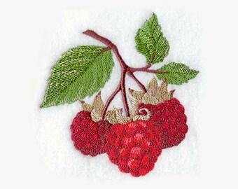 Ripe Raspberries Tea Towel | Embroidered Kitchen Towel | Embroidered Towel | Embroidered Tea Towel | Kitchen Towel | Hand Towel |Personalize