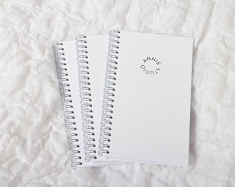 Handmade lined wired notebook